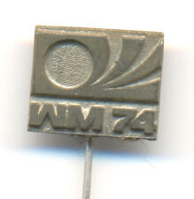 GERMANY 1974 FIFA Football World Cup WM 74 Fussball Anstecknadel Logo pin - MATT