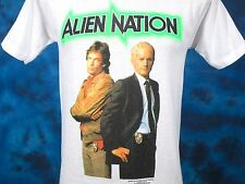 vintage 90 ALIEN NATION PAPER THIN T-Shirt SMALL sci fi tv show police movie 80s