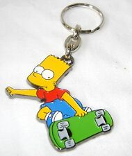 NEW QUALITY METAL THE SIMPSONS SHAPED KEYRING BART ON SKATEBOARD