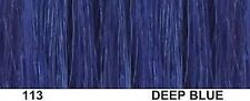 "AMERICAN DREAM QUICK FIX CLIP 12""WEFT HAIR EXTENSIONS 113 DEEP BLUE 18"""