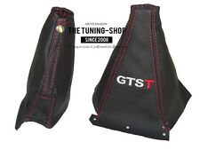 FOR NISSAN SKYLINE R33 LEATHER GEAR HANDBRAKE BOOT EMBROIDERY GTST RED STITCHING