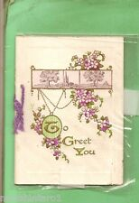 #MM. #8.  OLD EMBOSSED GREETING CARD, TO GREET YOU
