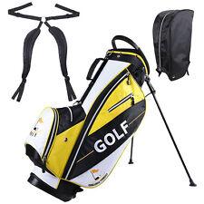 Golf Carry Cart Bag 14-Way Dividers Stand Set w/Ball Cap & 7 Zipper Pockets