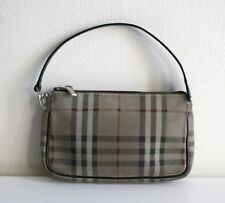 AUTHENTIC BURBERRY SUEDE Gray NOVA Small BAG PURSE