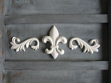 SHABBY CHIC DECORATIVE FLEUR DE LIS  BAROQUE SCROOL/ FURNITURE MOULDING SET