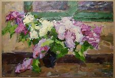 Russian Ukrainian Oil Painting Impressionism Still Life flowers lilac