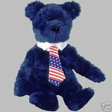 "TY Beanie Baby ""POPS"" the Father's Day TEDDY BEAR - MWMT Retired"