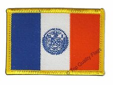 USA New York City Flag EMBROIDERED PATCH 8x6cm Badge