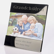 """Engraved Grandchildren Photo Frame - Personalised gifts for grandparents 6 x 4 """""""