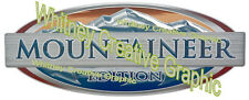 """Montana """"MOUNTAINEER EDITION"""" RV LOGO Graphic Lettering decal 5th Wheel"""