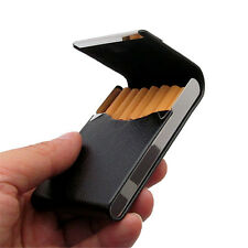New Black Pocket Leather Tobacco 20 Cigarette Holder Storage Case Box Container