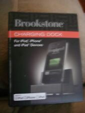 BROOKSTONE CHARGING DOCK FOR IPOD, IPHONE AND IPAD DEVICES