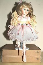 """Ballerina Girl Collectible Porcelain Doll 16"""" Tall, stand included"""