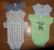 Boys snap shirts size 0-3 mo, animals, tractor, Crib Notes, Fisher Price #230