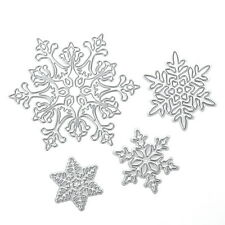 4pcs Christmas Snowflake DIY Scrapbooking Album Paper Cards Diary Crafts Decor