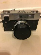 Vtg Konica Auto S2 35mm Rangefinder 47mm f/1.9  Lens & Case For Parts Or Repair