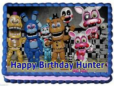 FIVE NIGHTS AT FREDDYS FNAF EDIBLE CAKE TOPPER BIRTHDAY DECORATIONS