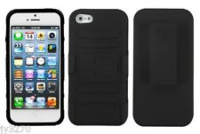 Tuff Advanced Armor Dual Layered Case with Kickstand & Holster for iPhone 5 5S