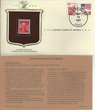 Historic Stamps of America THEODORE ROOSEVELT Commemorative Stamp