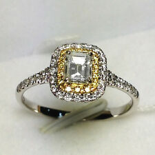 18ct White Gold Stunning Natural Fancy Yellow and White Diamond Ring