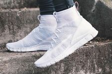 NIKE FREE FLYKNIT MERCURIAL Superfly Running Gym 'Triple White'  UK 8 (EUR 42.5)