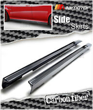 Carbon Fiber V Type Side Skirt Extensions 2PC for Mercedes W204 C63 AMG Facelift