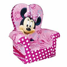 Marshmallow Furniture Minnie's Bow-Tique High-Back Chair (6021862) Soft, Plush