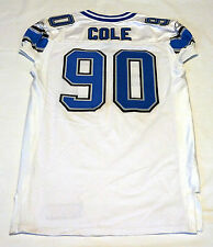 #90 Colin Cole Authentic Game Issued Detroit Lions Jersey