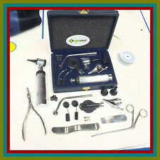 Otoscope & Ophthalmoscope Set ENT Surgical Instruments +2 FREE BULB + FREE BOX
