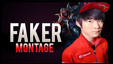 Poster 42x24 cm League Of Legends Faker Zed LOL