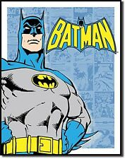 Batman (blue panel background) metal sign  400mm x 310mm (sf)  REDUCED!