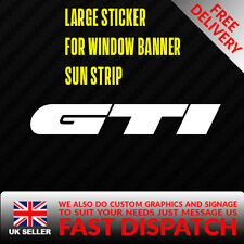 GTI peugeot logo Sticker Badge for Sun strip Vinyl Decal Banner Sponsor Visor