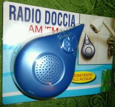 RADIO DOCCIA + PILE INCLUSE Impermeabile Resistente all'Acqua Shower WaterProof
