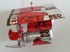 RED DOG BEER Plank Road Brewery CAN SCULPTURE ART Bird House  NEW VINTAGE