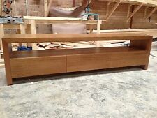 Factory direct tassie oak Hardwood Timber byron lowline entertainment tv unit。