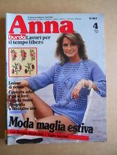 ANNA Burda n°4 1982 con cartamodelli  [C60]