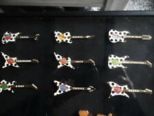 HARD ROCK CAFE PIN SET OF 8 JAPANESE 2002 FIFA SOCCER GUITARS AND SEOUL