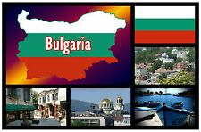 BULGARIA MAP / FLAG - SOUVENIR NOVELTY FRIDGE MAGNET - NEW - GIFT
