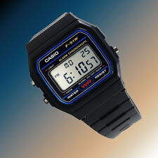 Casio F91W-1 Digital Watch 7 Year Battery Blue Black Microlight Classic New