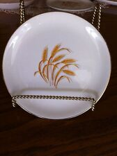 VINTAGE GOLDEN WHEAT CHINA BREAD & BUTTER PLATE 22K GOLD TRIM HOMER LAUGHLIN