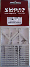 Slaters 7A12 Wire Fence Posts Makes 3' Fence, White Plastic Kit 0 Gauge 1st Post