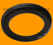 43mm to 55mm 43-55 Stepping Step Up Filter Ring Adapter 43-55mm 43mm-55mm