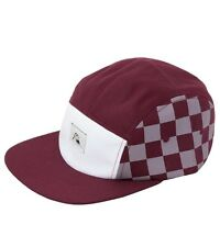NWT QUIKSILVER Men's BLENDER Camper Adjustable Hat Cap, Maroon/Grey