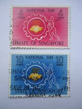 Singapore 1962 SG78-79 4c-10c used National Day