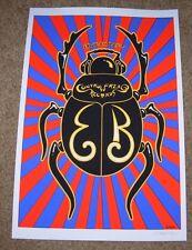 """EMEK Handbill Silkscreen Print ERYKAH BADU SCARAB Signed 8 X 11.75"""" poster art"""