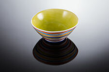 BASSANO mediterrane Schale Schüssel Streifen rund italienische Keramik 16x7 grün