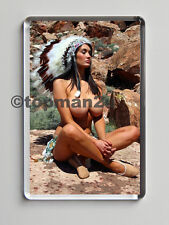 New Quality Fridge Magnet, Sexy, Busty Red Indian Squaw , Big Boobs, Cleavage