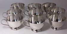 Stieff Sterling Silver Punch Cups Set of 9 No monogram