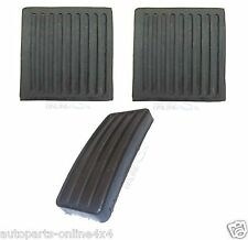 LAND ROVER DEFENDER 90/110/130 - NEW RUBBER PEDAL PAD SET OF 3 - APK001