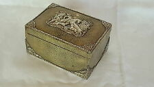 Berthold Muller solid silver & shagreen vintage Victorian antique hunting box